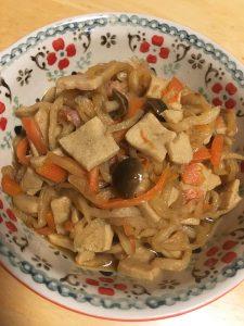 切り干し大根の煮物 オリーブオイル『カスティージョ・デ・タベルナス0.1』でおいしい和食を。
