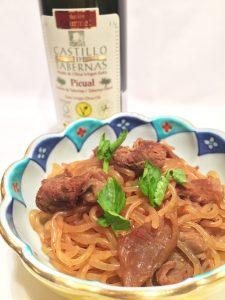オリーブオイルと牛筋の煮込み。和食にもあるカスティージョ・デ・タベルナス