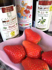 オリーブオイルをイチゴにかけるととってもおいしい。酸度0.1 カスティージョ・デ・タベルナス0.1