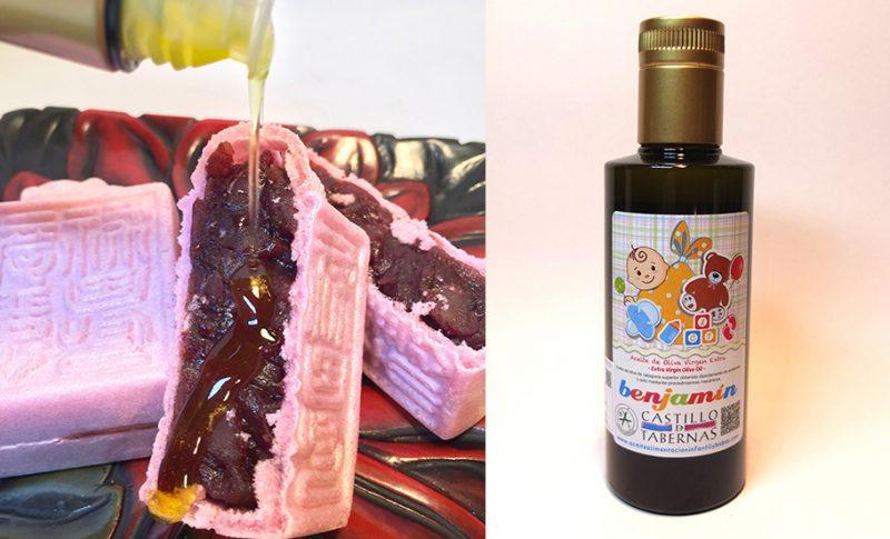 酸度0.1のオリーブオイルと和菓子はおいしい組み合わせ。桜に誘われて。