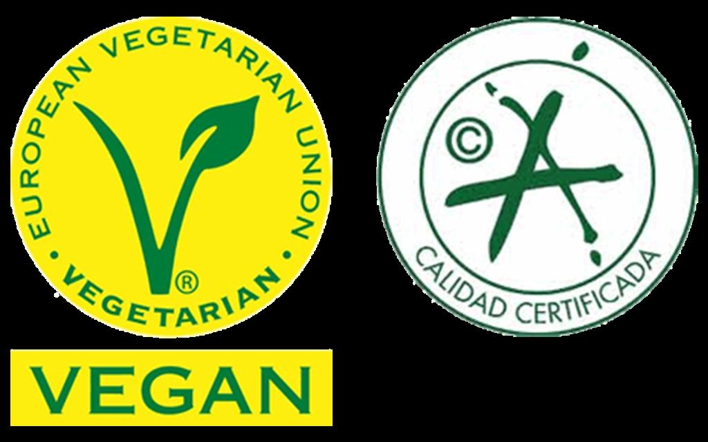 おすすめ ナチュラルなオリーブオイル カスティージョ・デ・タベルナス0.1にあるヴィ―ガンマークとスペイン政府認定品質マーク