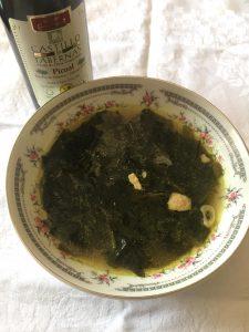わかめスープ,韓国風,オリーブオイルで絶品