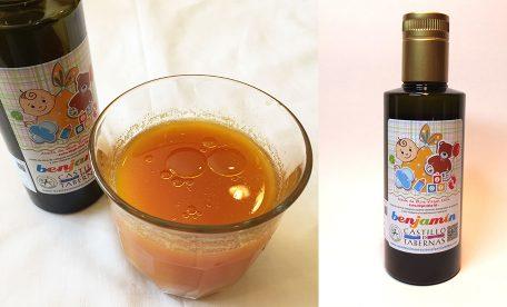 野菜ジュースに、エキストラバージンオリーブオイルをちょい足し