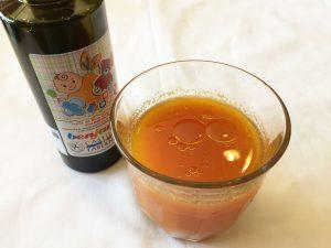朝の素敵な一杯 野菜ジュースと酸度0.1のエクストラバージンオリーブオイル