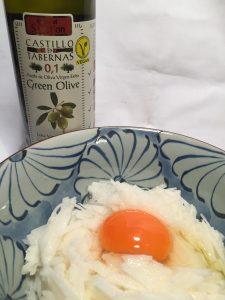 シンプル とろろ料理 和食とオリーブオイルのコラボレーション