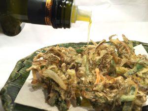 国際オリーブオイルコンテスト 銀賞受賞 酸度0.1 エクストラバージンオリーブオイルは和食にぴったり もずくの天ぷら