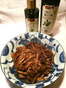 和食に合うオリーブオイル ゴボウと牛肉のきんぴら 酸度0.1の奇跡