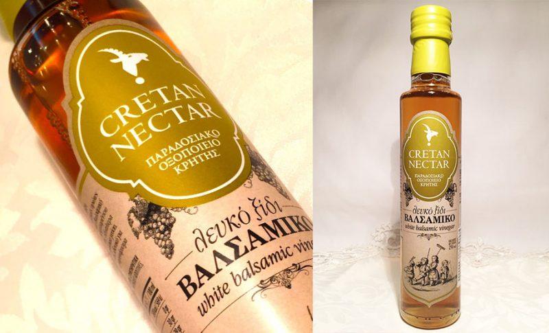 酸度0.1のオリーブオイルにぴったり~ギリシャ クレタ島から来た悠久の時の贈り物~白バルサミコ酢