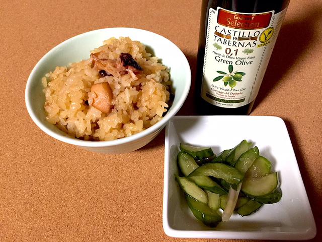 半夏生 蛸飯とオリーブオイル