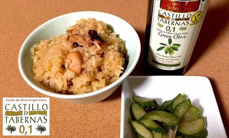 【酸度0.1の奇跡】蛸飯とオリーブオイル~半夏生においしくいただきました