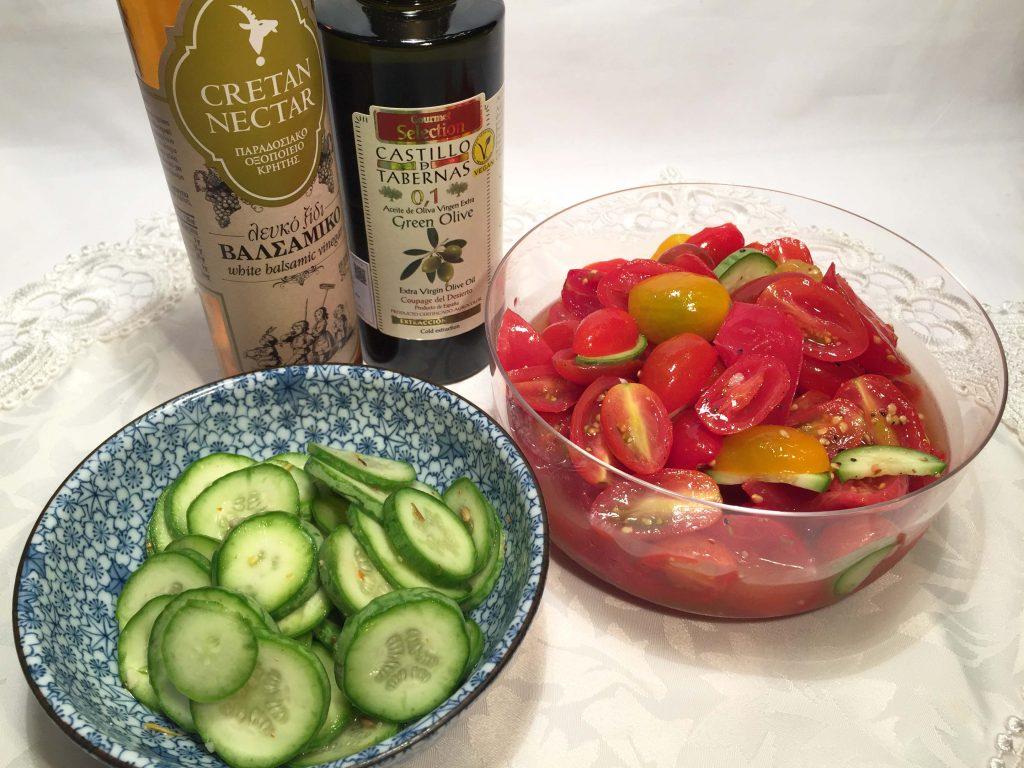 オリーブオイルとバルサミコ酢でおいしい酢の物