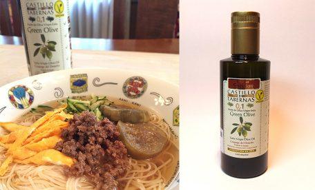 美味しいおすすめ にゅう麵と酸度0.1のエクストラバージンオリーブオイル