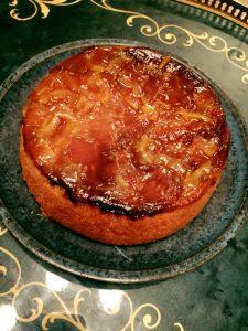 オリーブオイル アップル アップサイドダウンケーキ