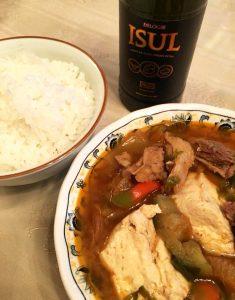 韓国料理とオリーブオイル スンドゥブ