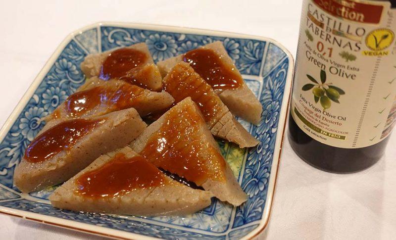 おいしい食べ方~味噌田楽にエクストラバージンオリーブオイルがおすすめ