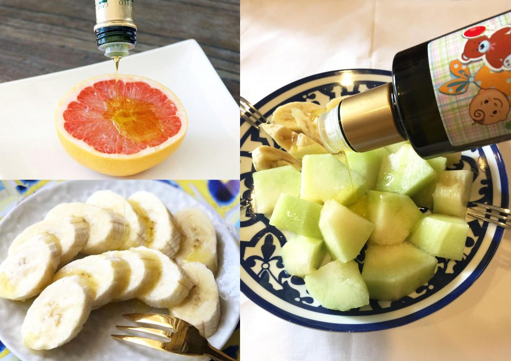 オリーブオイル フルーツにかける幸せなおいしさが体験できます
