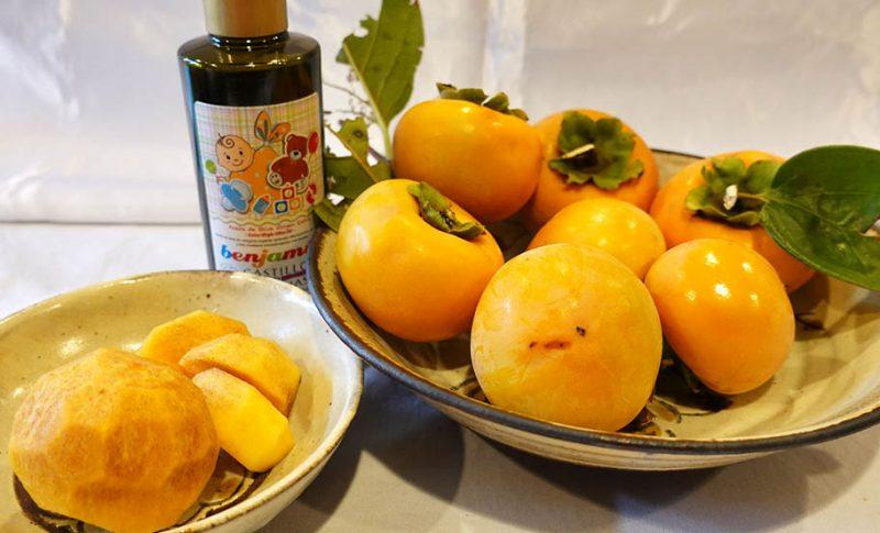 秋の味覚を味わおう!フルーツにかけるだけ!おいしさ広がる酸度0.1のエクストラバージンオリーブオイル『カスティージョ・デ・タベルナス 0.1』