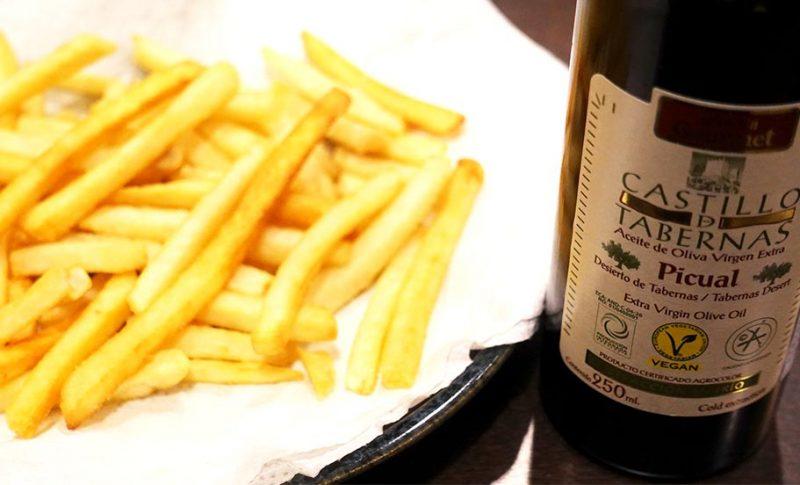 最高品質のオリーブオイル『カスティージョ・デ・タベルナス 0.1』でおいしいフライドポテトを食べよう!