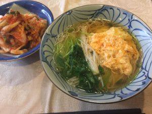 おいしい温麺とエクストラバージンオリーブオイル