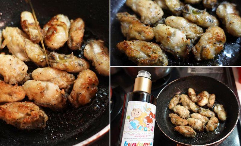 オリーブオイルで牡蠣のソテー~健康と幸せなおいしさを