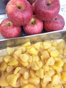 オリーブオイルでさらにおすすめ、リンゴのコンポート