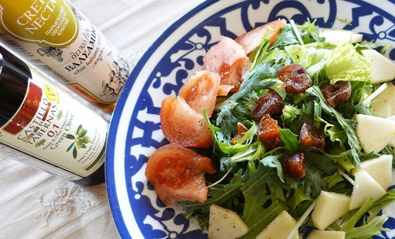 エクストラバージンオリーブオイルとバルサミコ酢で幸せサラダ