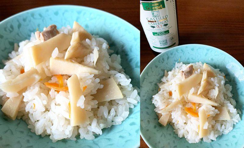 季節の幸せをオリーブオイルと~香るタケノコご飯
