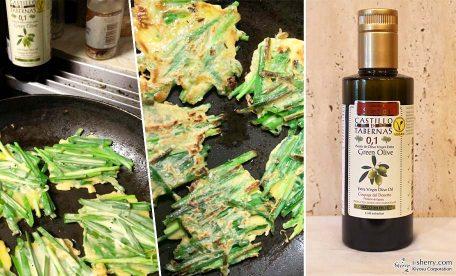 オリーブオイルで韓国料理〝チヂミ〟を作ってみよう。