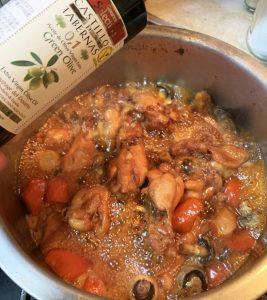 オリーブオイル,鶏肉料理