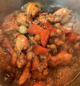 鶏ウィングの甘辛煮