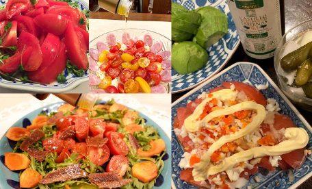 簡単!幸せ!笑顔!オリーブオイルでトマトを食べよう!