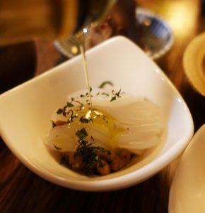 イカ納豆,オリーブオイル