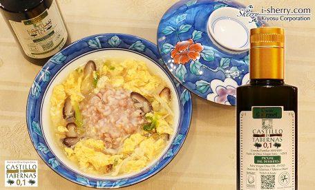 【おすすめ】お粥にオリーブオイルを。